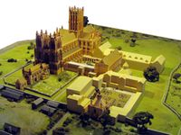 Glastonbury Abbey model